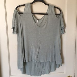 Free People Bittersweet Cold-Shoulder T-Shirt